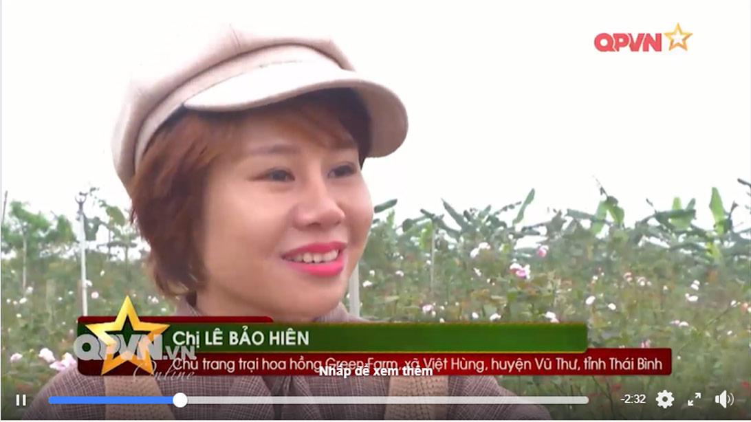 Rosalia by Bảo Hiên: Bảo Hien Farm trên truyền hình Quốc phòng Việt Nam