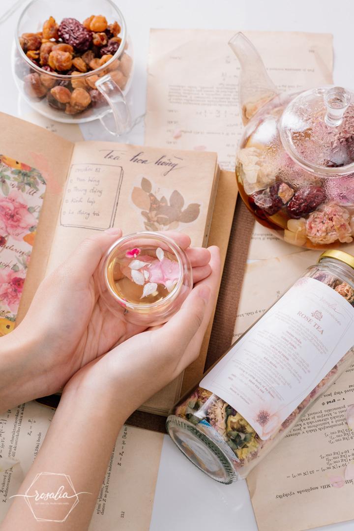 SET trà hoa tứ vị Rosalia by Bảo Hiên
